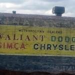 Thornbury Sign: Chrysler Valiant Dodge Simca